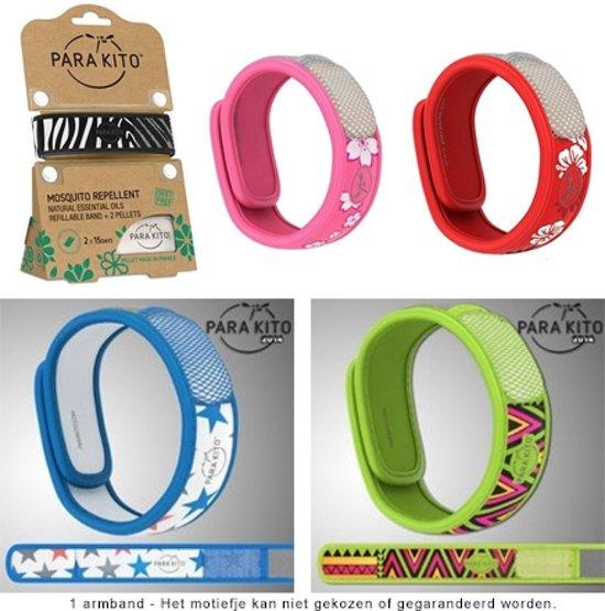 Parakito anti muggen armband motief 2 navullingen - Anti muggen gordijn ...