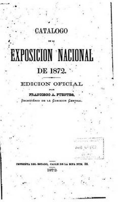 Cat logo de la Exposici n Nacional de 1872