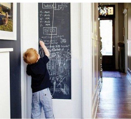 Krijtbord muursticker inclusief krijtjes   Schoolbord   Krijtsticker