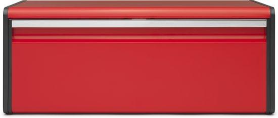 Brabantia Broodtrommel met Klepdeksel - Passion red