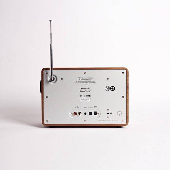 FonQ SuperConnect - DAB+ - internet radio en Spotify - Walnoot/Zwart