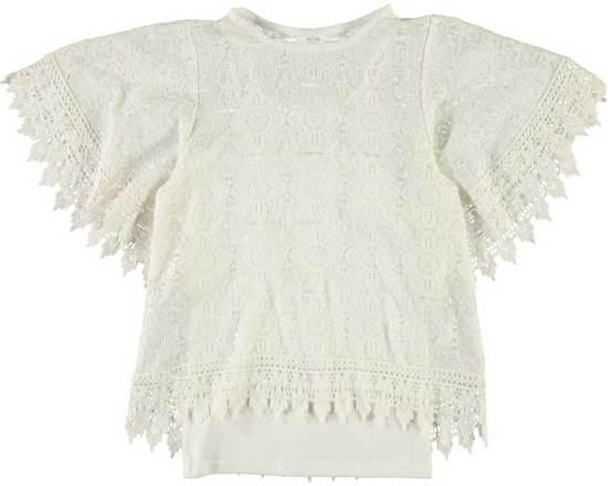 Name it t-shirt meisjes - wit - NKFimante - maat 152