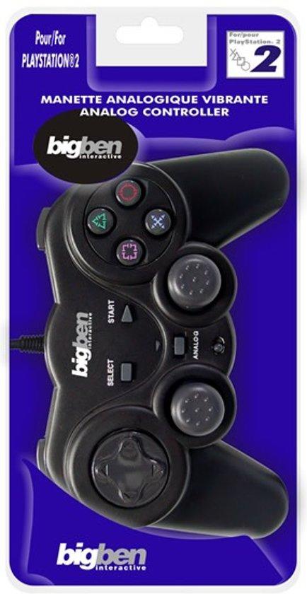Bigben Controller Vibratie Zwart PS2
