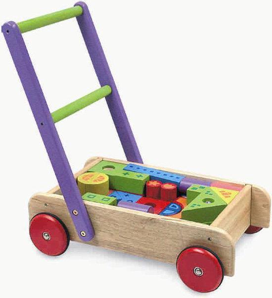 Im Toy - Deluxe blokkenwagen 52 blokken