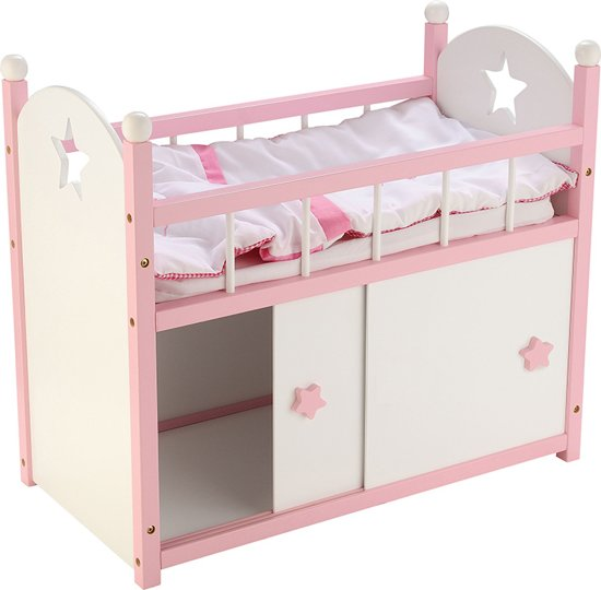 poppenbedje roze new classic toys. Black Bedroom Furniture Sets. Home Design Ideas