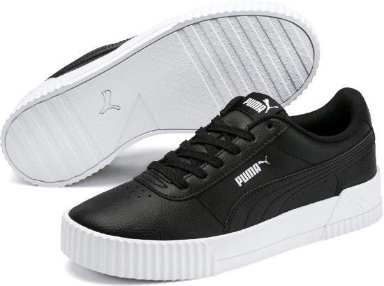 PUMA Carina L Sneakers Dames - Puma Black-Puma White-Puma Silver - Maat 40