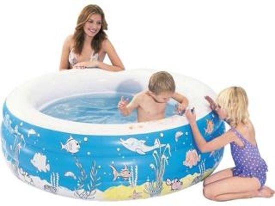 Summertime Opblaasbaar Inkleurbaar Zwembad -152x50 cm - Sea Life