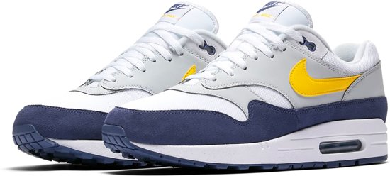 nike air max 1 dames wit blauw