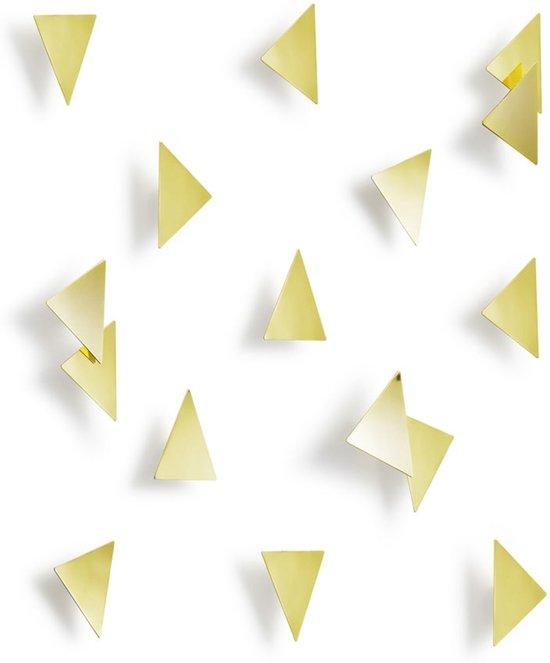 Umbra wanddecoratie Confetti Triangel messing metaal