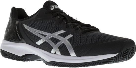 Asics Gel Court Speed Clay Tennisschoenen Maat 44.5 Mannen zwartzilver