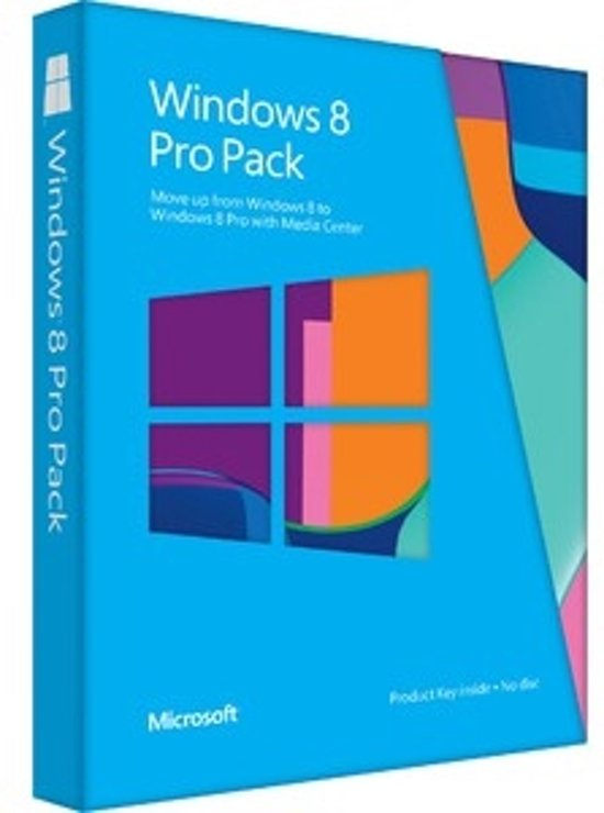 Microsoft Windows Pro Pack 8 - Engels / 32-bit/64-bit / PUP Medialess / Win to Pro MC