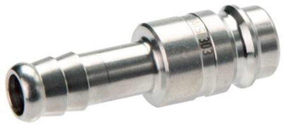 Messing DN 10 Luchtkoppeling Insteeknippel 13 mm Slangpilaar - CLP10-H-BN-SV-13