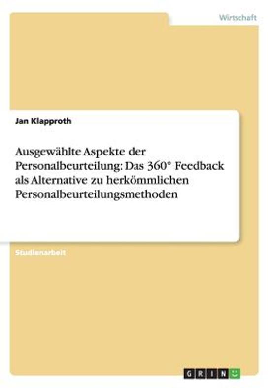 bol.com | Ausgewahlte Aspekte Der Personalbeurteilung, Jan Klapproth ...