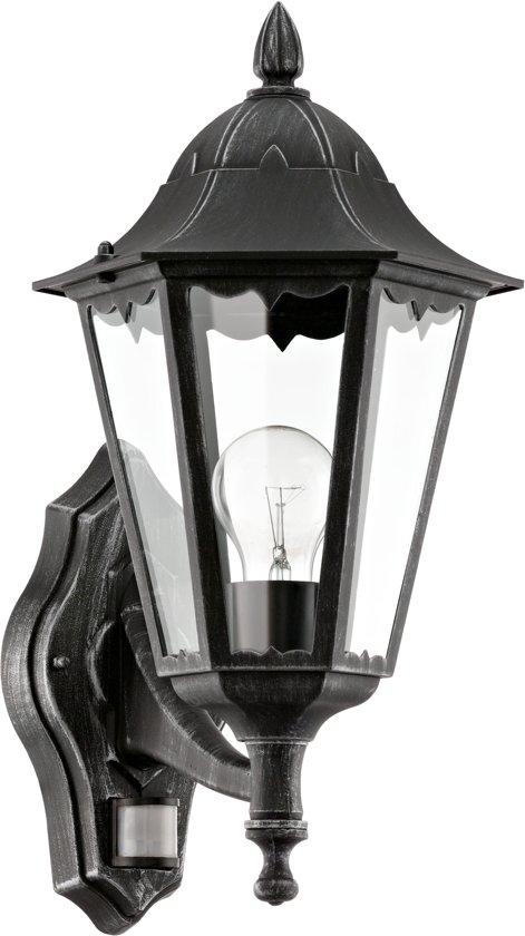 Buitenverlichting Met Sensor.Eglo Navedo Buitenverlichting Wandlamp Met Sensor 1 Lichts Zwart Patina
