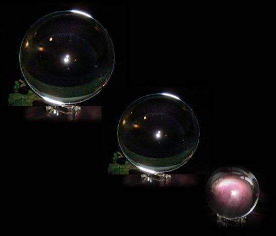 Massief Glazen Bollen.Kristallen Glazen Bol 12 Cm Incl Losse Standaard