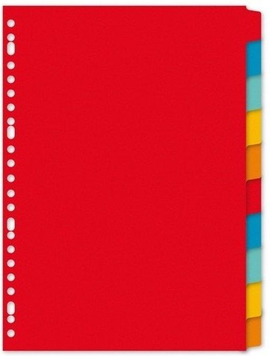 Kartonnen tabbladen A4 - 10 stuks - 23 rings/ gaats - gekleurde tabbladen