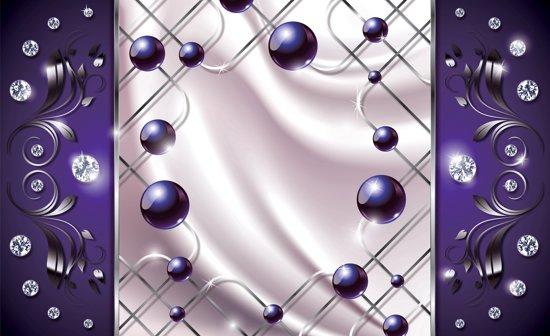 Behang Paars Slaapkamer : Bol.com fotobehang modern slaapkamer zilver paars 416x254