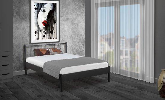 Bed Met Matras En Bodem.Bol Com Metalen Bed Moon Zwart Met Bodem En Matras 140x200