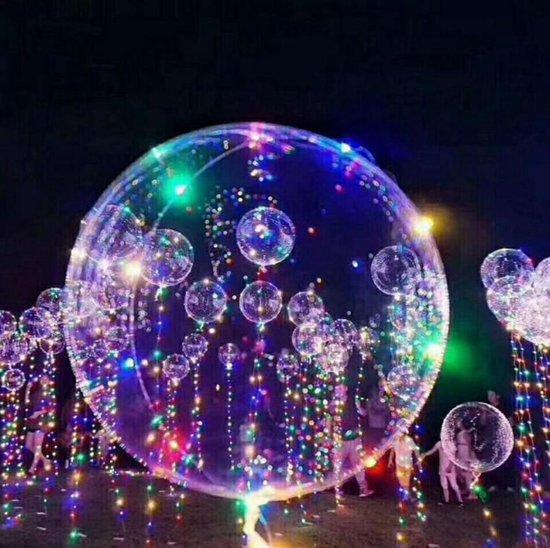 Transparante ballon met LED-strip, Ballon met verlichting - Feest - Versiering -