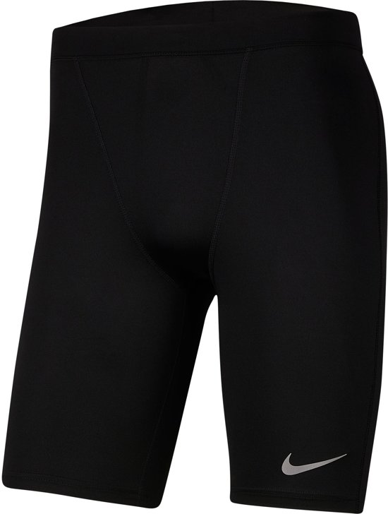 Nike Pwr Tght Half Fast Sportlegging Heren - Black/(Reflective Silv) (C/O.) - Maat M