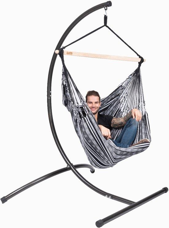 Hangstoel 'Comfort' black white