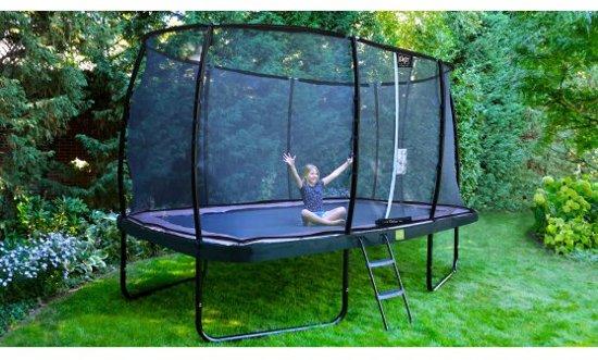 EXIT Elegant trampoline 214x366cm met veiligheidsnet Deluxe - blauw