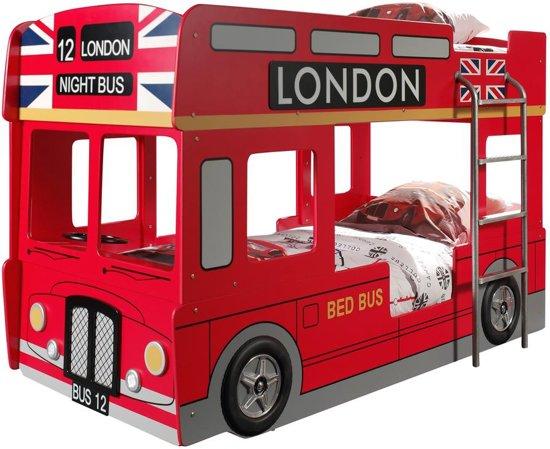 Brandweer Auto Stapelbed.Vipack London Bus Stapelbed Multi 99 X 215 Cm