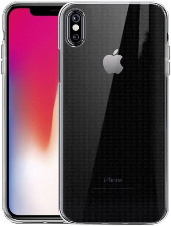 Apple iPhone X/Xs siliconen hoesje/back cover Transparant/Clear/Doorzichtig.