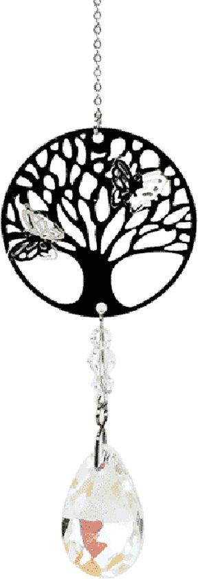 Kristallen met Tree of Life en druppel wit