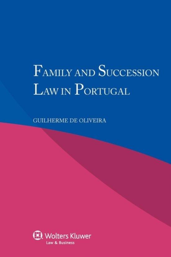 Boek cover Family and Succession Law in Portugal van Guilherme de Oliveira (Paperback)