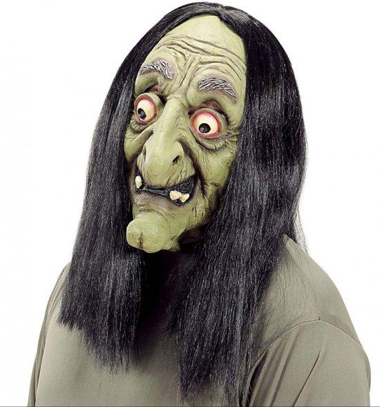Halloween Spelletjes Volwassenen.Halloween Heks Masker Met Haar Voor Volwassenen