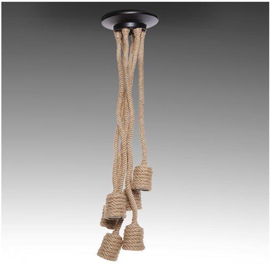 Hanglamp Met Touw.Bol Com Hanglamp Houder Touw 6 X E27 1 Meter