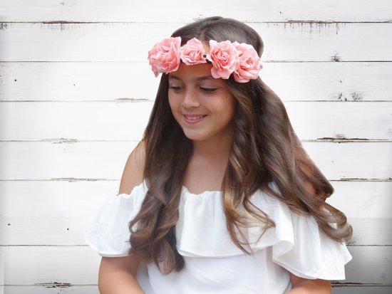 Jessidress Luxe Ibiza Haarband Hoofdband Haarbloemen - Wit