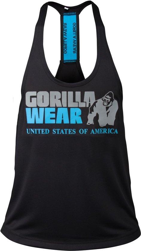 Gorilla Wear Nashville Tank Top - Black/Light Blue-XL