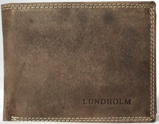 096077c6550 Lundholm - Leren portemonnee heren leer - Premium vintage leer - Taupe Bruin