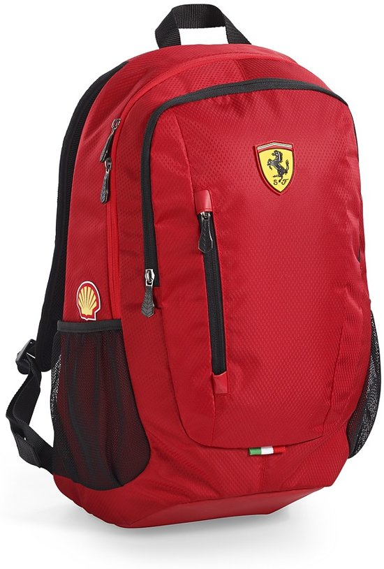 Logo Vak Laptop Rugzak Ferrari Met amp; Kleur Rood 7FInOZq0