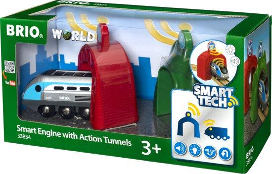 BRIO Smart Tech Engine - Locomotief met 2 Actietunnels - 33834