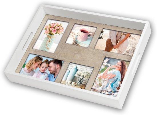 ZEP foto dienblad Gouda 41x43 hout 6 foto's W1714