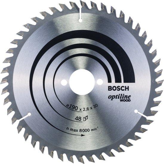 Bosch Cirkelzaagblad Optiline Wood 190 x 30 x 2,6 mm - 48 tanden