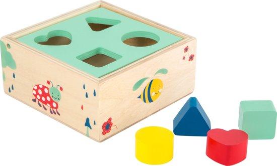 Houten vormenstoof blokken kubus