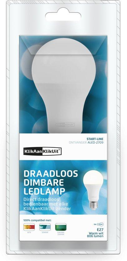 klikaanklikuit draadloos dimbare led lamp aled 2709