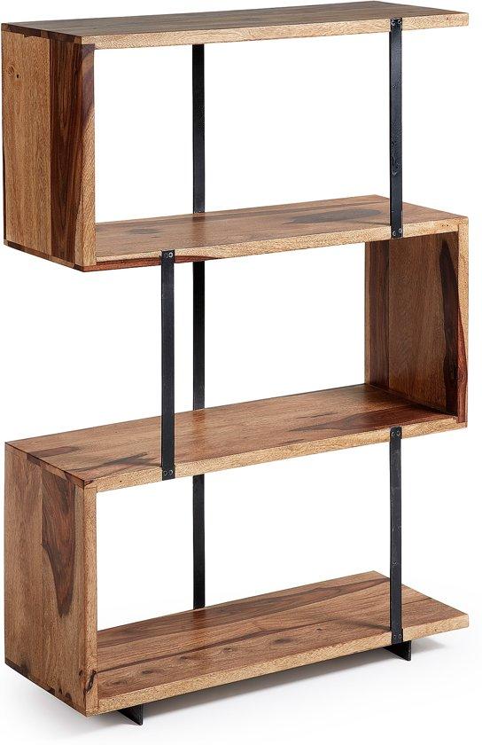 Kave Home Alia Boekenkast Sheesham Hout 3 Planken