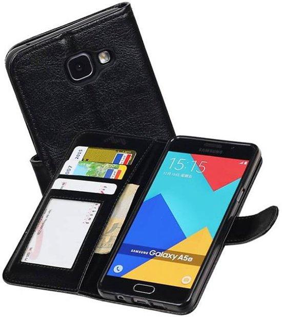 tui Portefeuille Noir Pour Samsung Galaxy A5 (2016) YHRn4