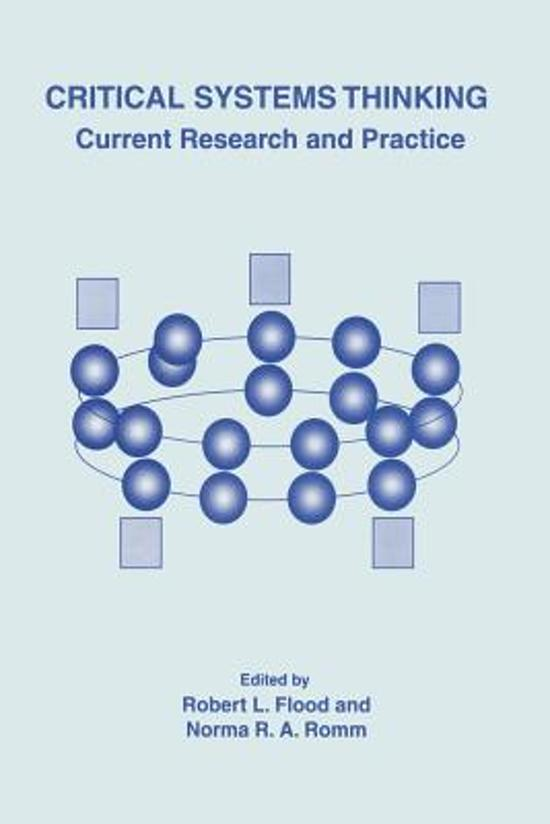 critical systems thinking current research and practice