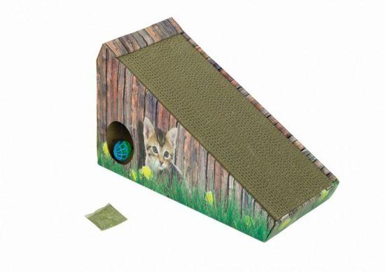 Nobby - Krabplank - Met kattenkruid - Karton - Schuin - 47 x 20 x 26 cm