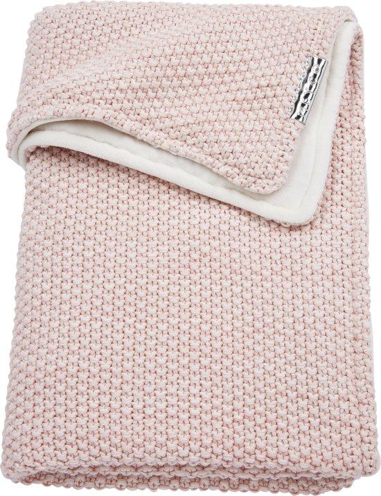 Meyco wiegdeken Relief Mixed met velvet - 75x100 cm - roze