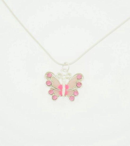 Ketting - Kinderketting - Roze Vlinder