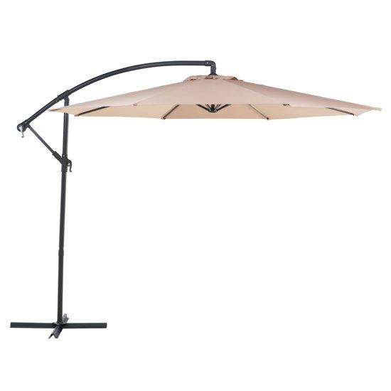 Beliani Parasol Ravenna mocca - Metaal