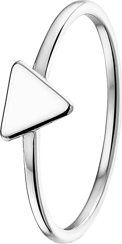 The Kids Jewelry Collection Ring Driehoek - Zilver Gerhodineerd