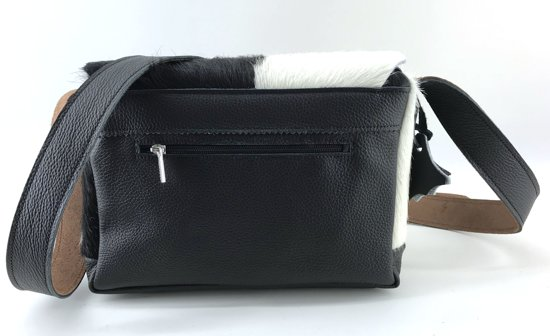 Koeienhuid Fiel wit Zwart Van Tas lina Leather Dames TrUtwpqT